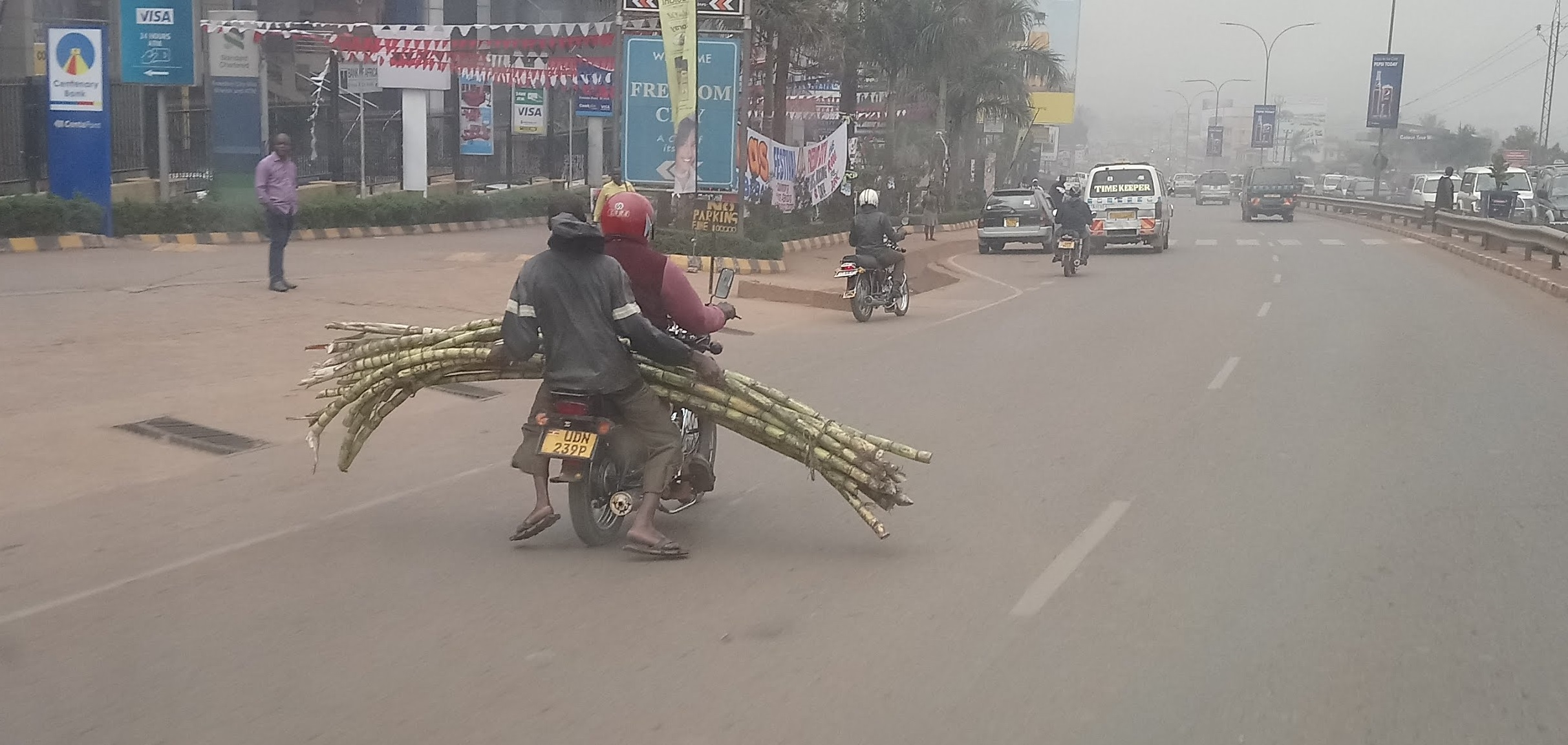 Sugar Cane on a Boda Boda in Uganda